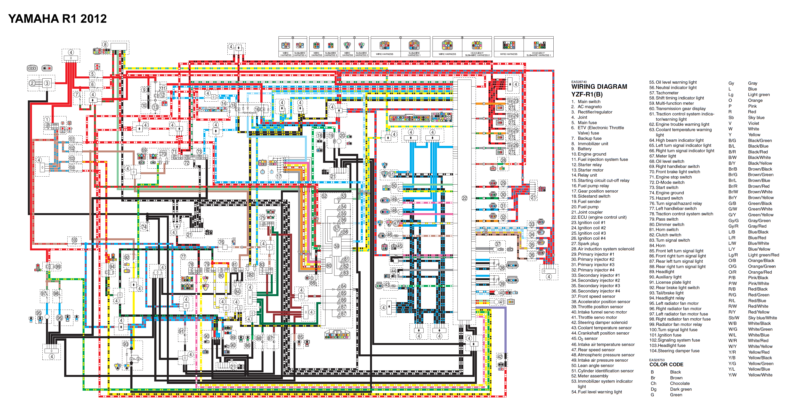 kawasaki r1 wiring diagram wiring diagrams 2009 yzf r1 wiring diagram #7