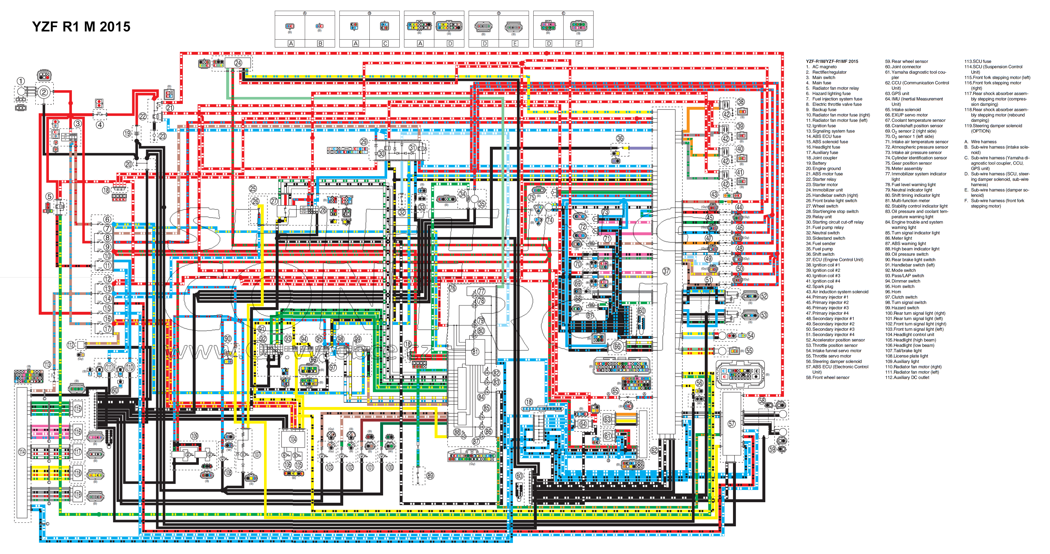 Wiring Diagrams 2009 R1 Diagram Front Yzf 2012